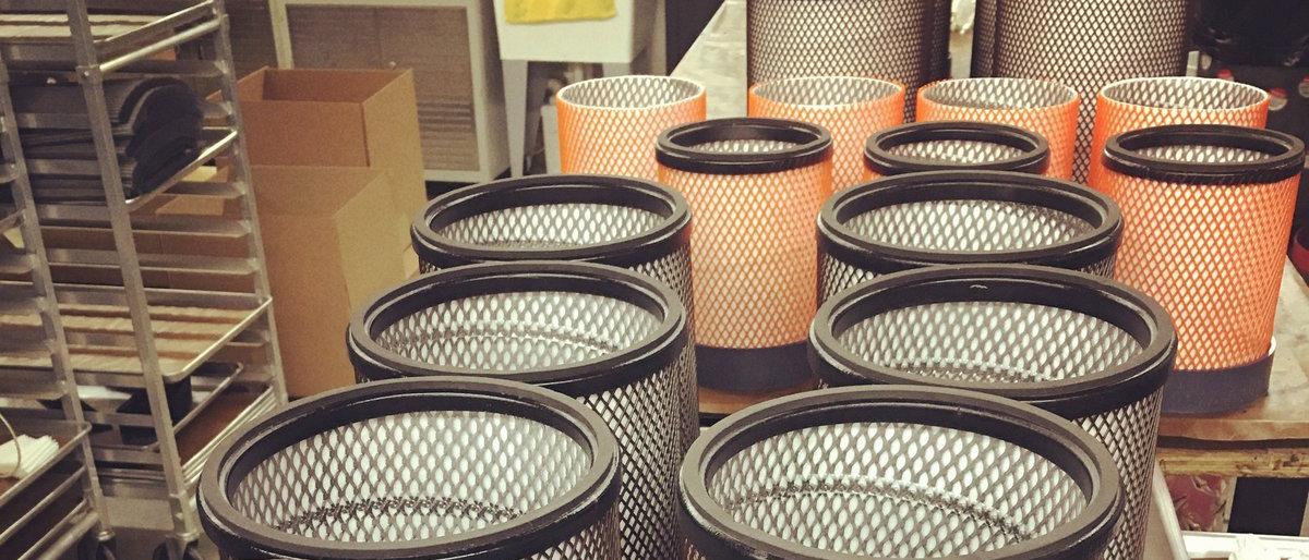 Elementos filtrantes fabricados a la medida